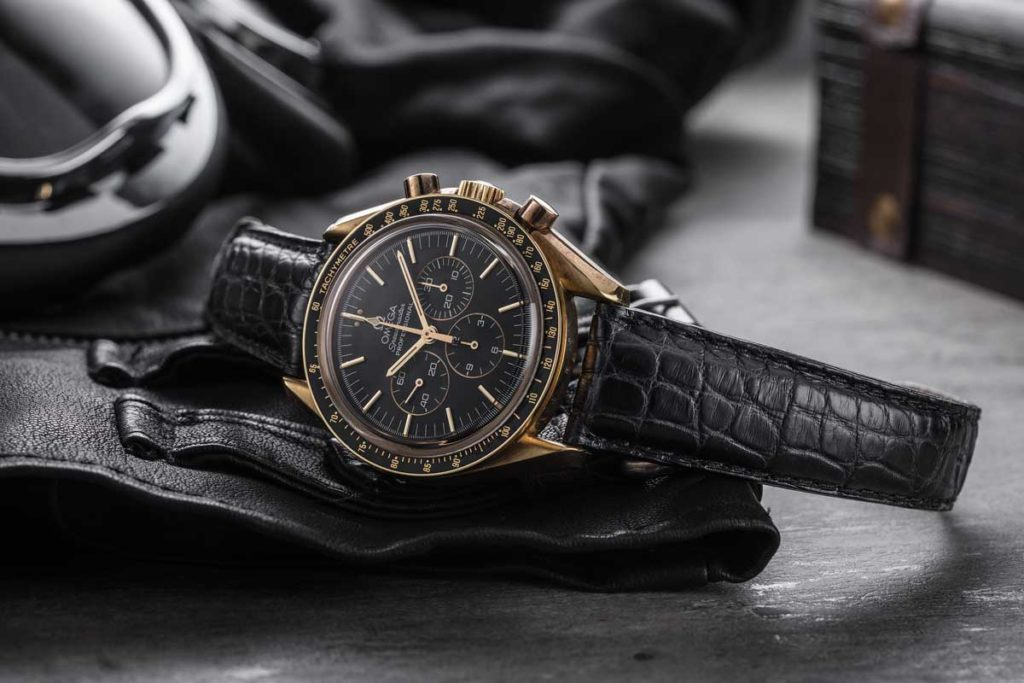 1992 Reference BA 148.0052 — First Yellow Gold Speedmaster with Black Dial (© Revolution)