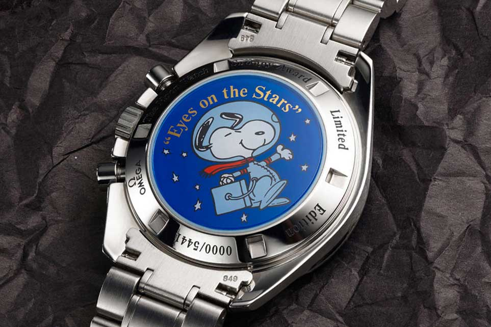 The commemorative 2003 Reference PIC 3578.51.00 — Blue Snoopy (Image: omegawatches.com)