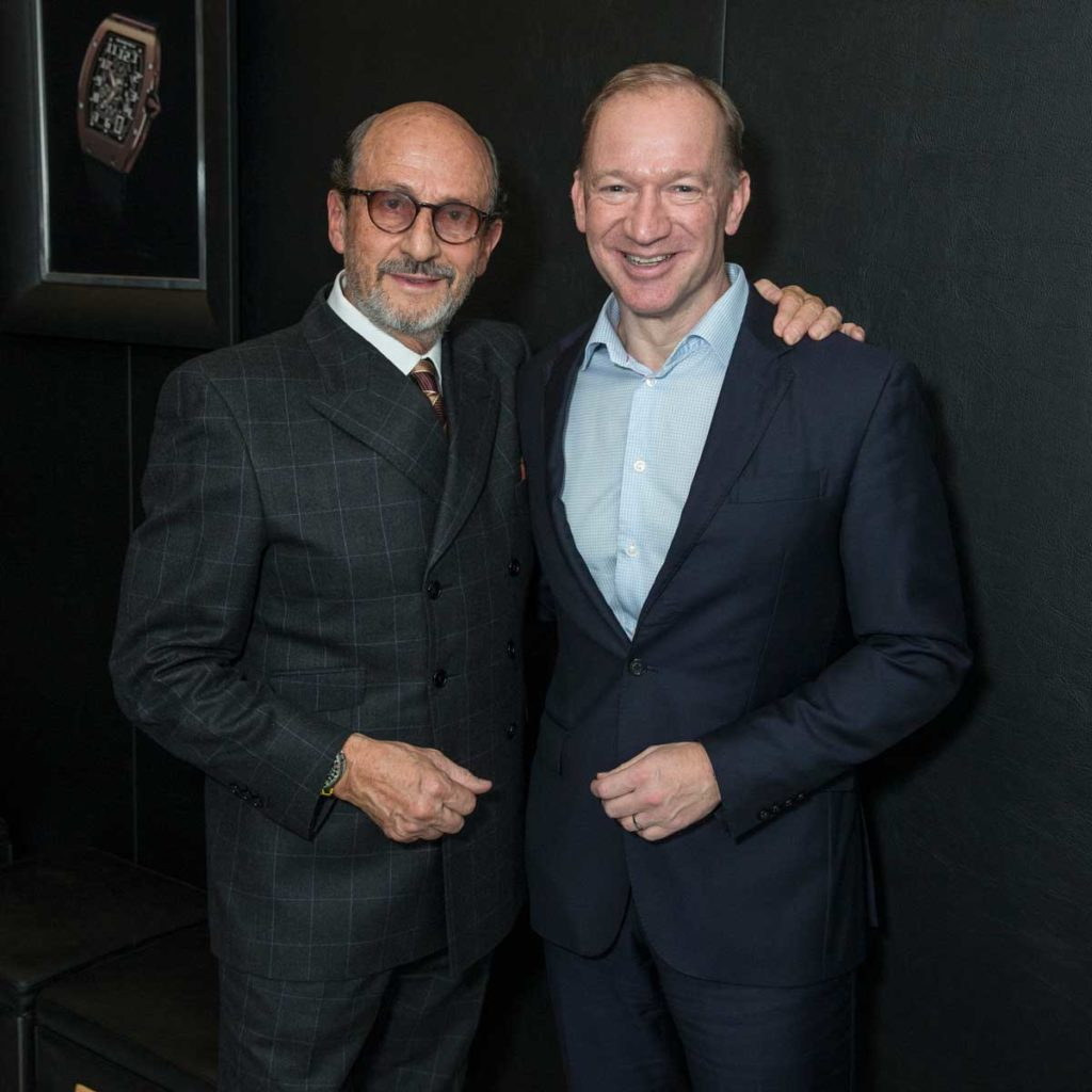 Richard Mille with CEO of McLaren Automotive, Mike Flewitt (Image: ©Didier Gourdon)