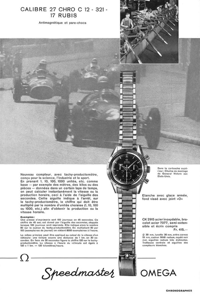 Omega Speedmaster Ad for the 1957 CK2915 (Image: omegawatches.com