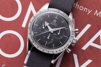The 2017, Speedmaster '57 issued in likeness to the first Speedmaster Omega made in 1957 (© Revolution)