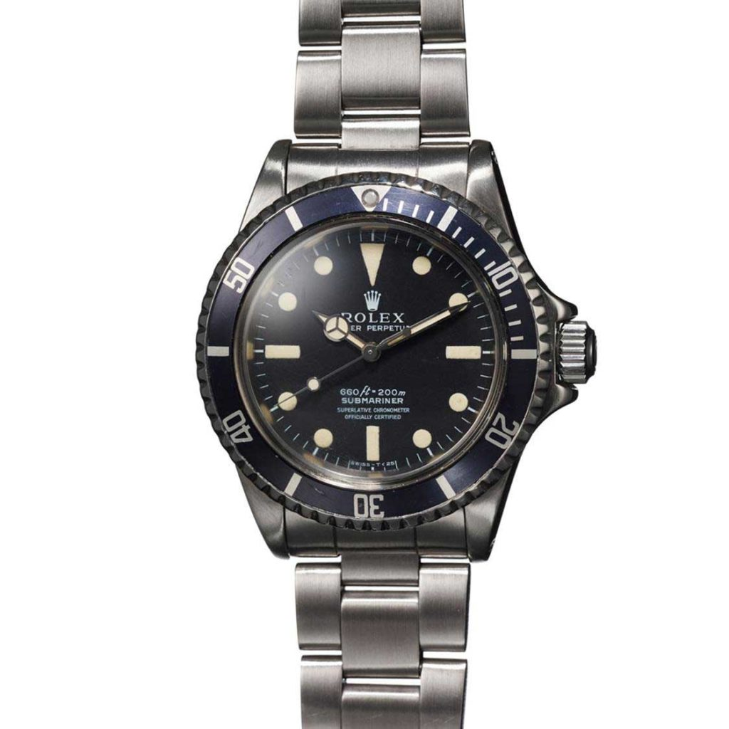 The Submariner ref. 5513 belonging to Loren Janes seen here fitted with a 5512 dial once it had been restored by Rolex (Image: PhillipsWatches.com)