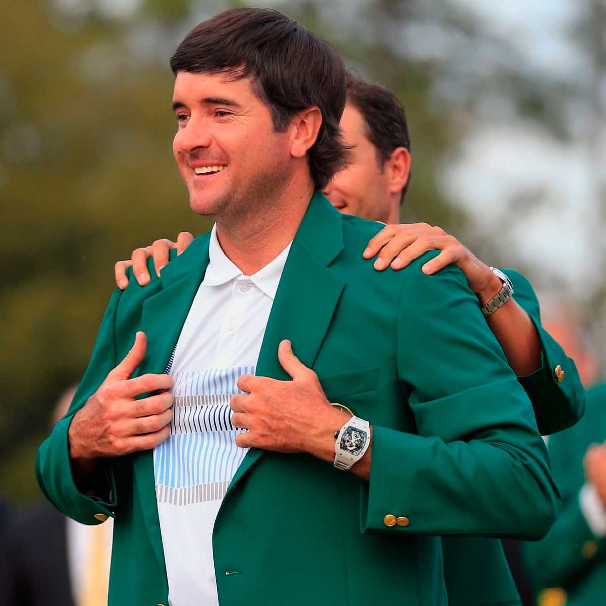 Bubba Watson cliched the green jacket first in 2012 and a second time in 2014, here on his wrist is the Richard Mille Tourbillon RM 038 Bubba Watson (Image: richardmille.com)