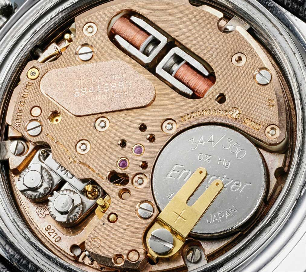 The electromechanical caliber 1255 inside the Speedsonic reference ST188.0002 that was delivered to NASA as part of the Alaska III prototypes (Image: PhillipsWatches.com)