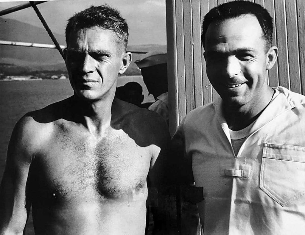 Steve McQueen with Loren Janes in Hong Kong on the set of the 1966 major motion picture titled, The Sand Pebbles. (Image: RolexMagazine.com)