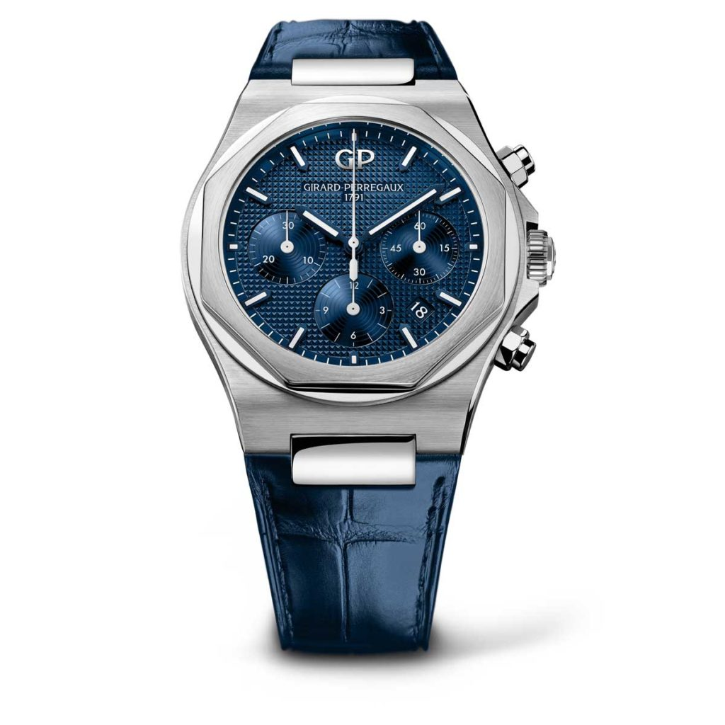Girard-Perregaux Laureato Chronograph 42mm steel on steel with dark blue dial variation