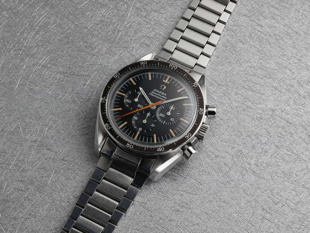 The 1968 Speedmaster ref. ST 145.012-67 with the peculiar orange chrono hand that collectors have nicknamed: The Ultraman (Image: omegawatches.com)