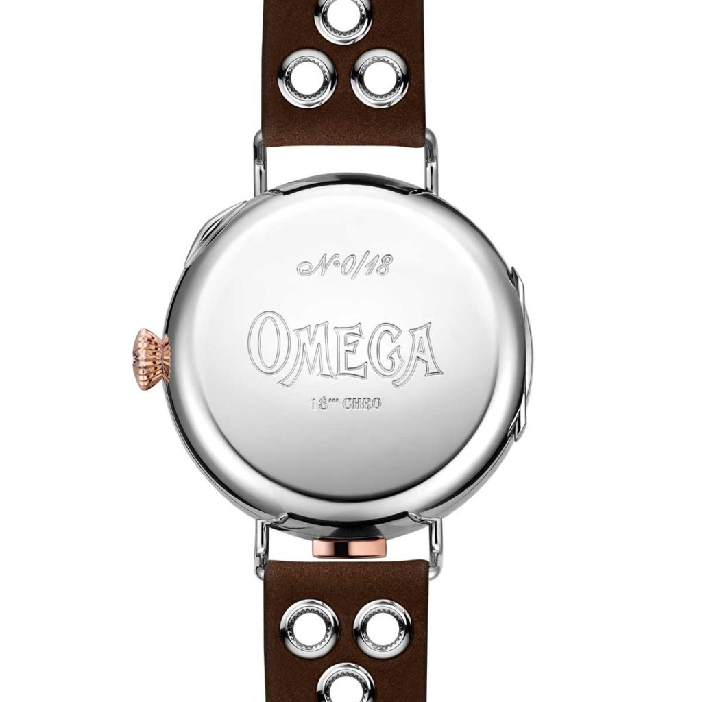 The First Omega Wrist-Chronograph Limited Edition with closed hunter caseback