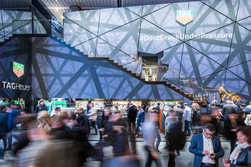 The TAG Heuer booth at Baselworld 2018