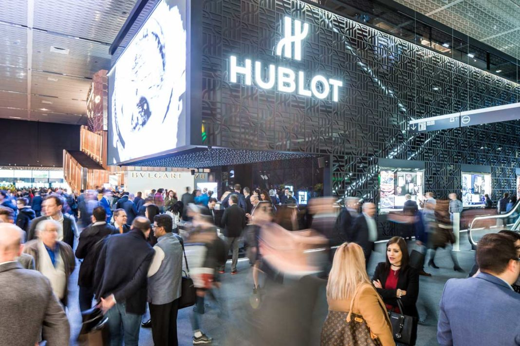 The Hublot booth at Baselworld 2018