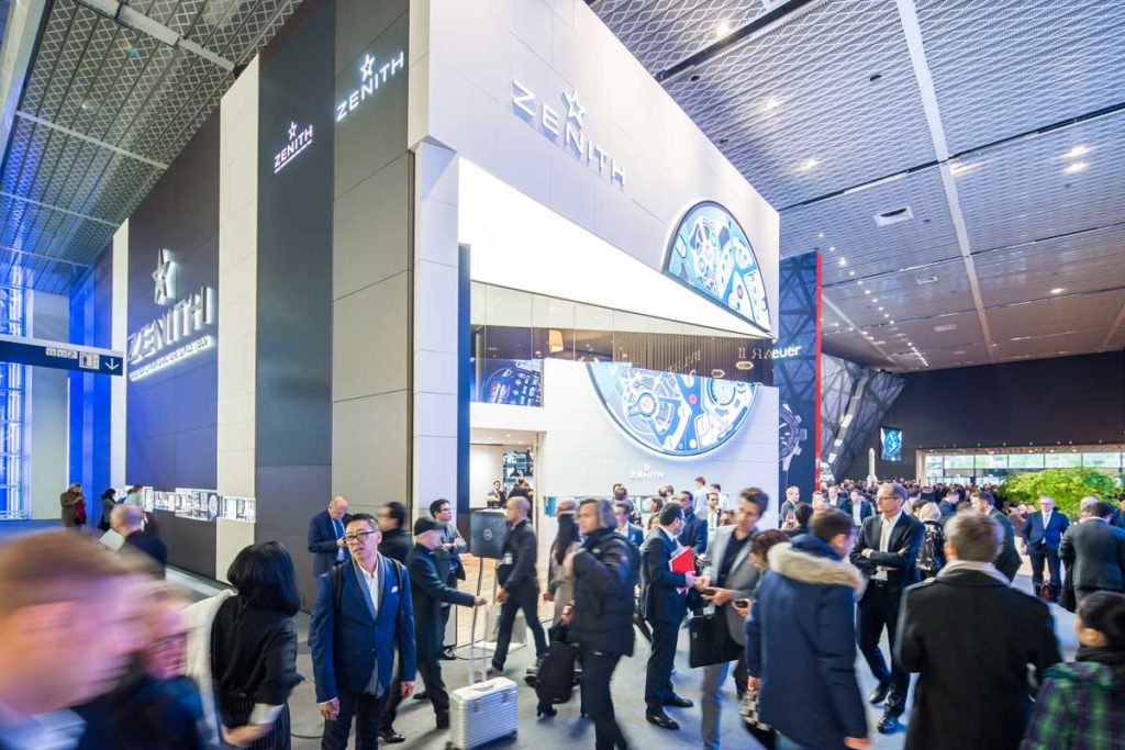 The Zenith booth at Baselworld 2018