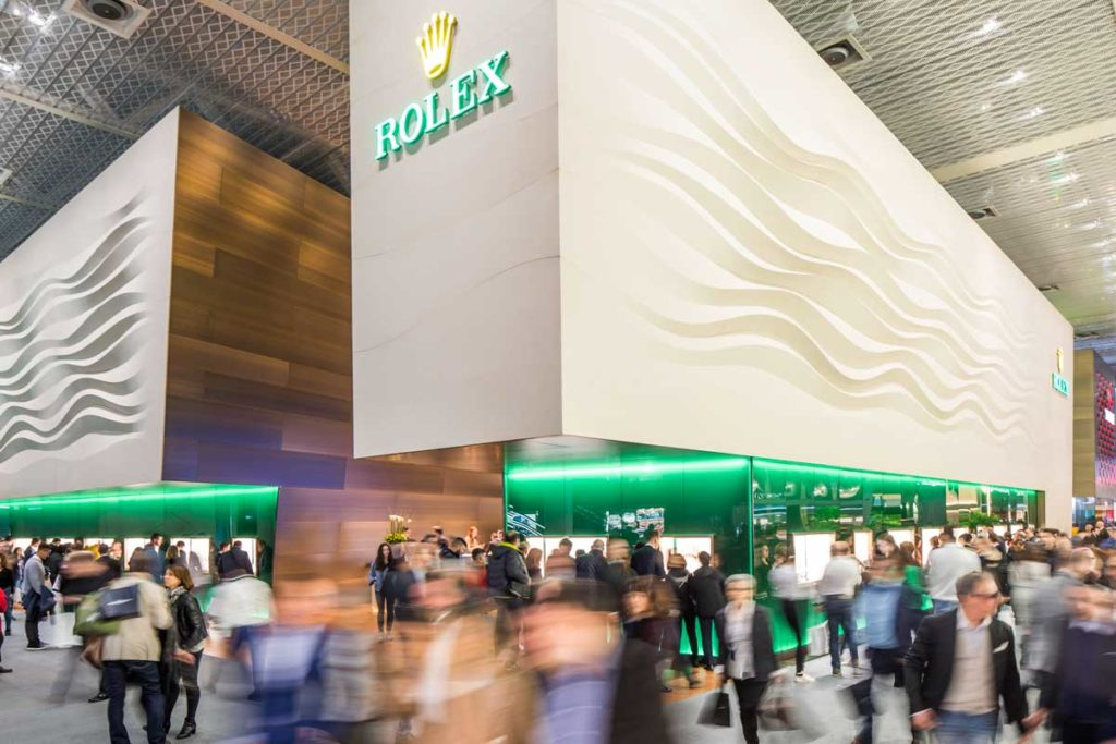 The Rolex booth at Baselworld 2018