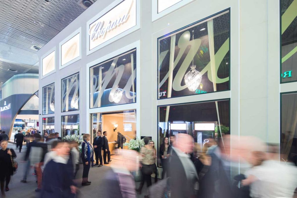 The Chopard booth at Baselworld 2018