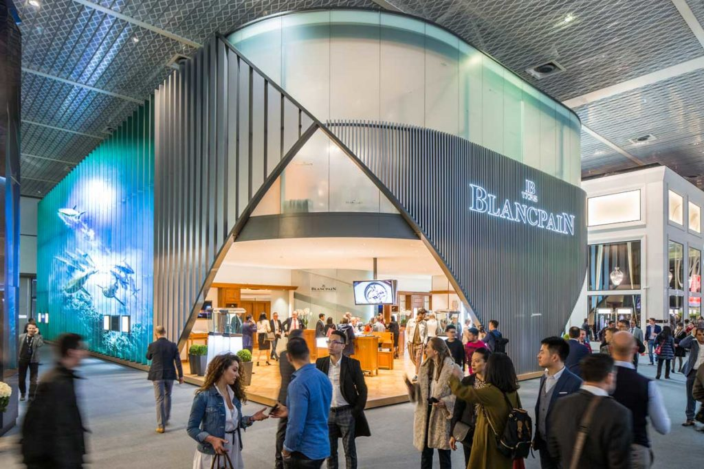 Blancpain booth at Baselworld 2018