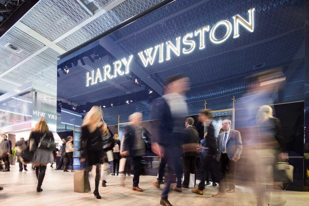 Harry Winston booth at Baselworld 2018