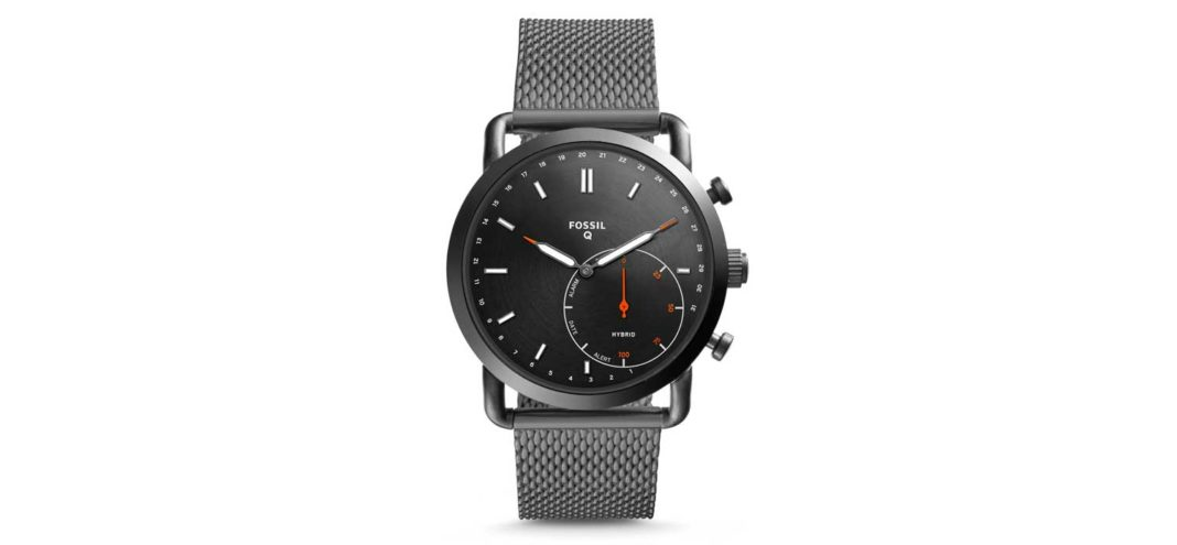 Fossil's Hybrid Smartwatch - Q Commuter Smoke Stainless Steel