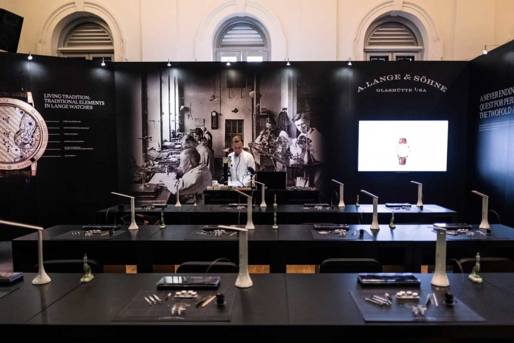 At the 2018 House of Lange in Singapore before class commenced under the guidance of Robert Hoffmann, head of A. Lange & Söhne's Zeitwerk department (©Revolution)