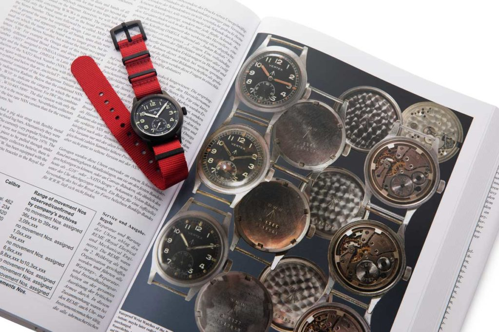 British Military Timepieces by Konrad Knirim, seen here paired with the Vertex M100B (© Revolution)