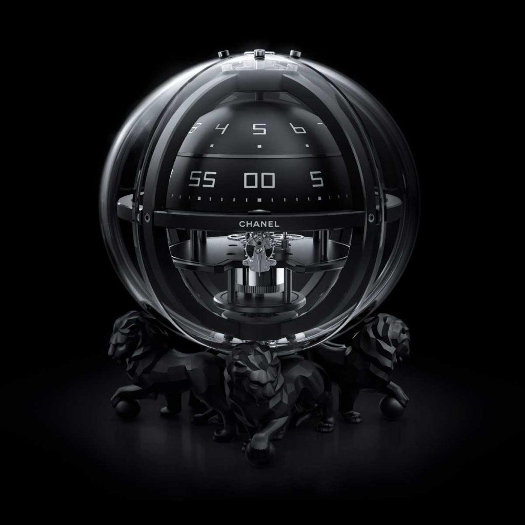 chanel monsieur de chanel chronosphere clock revolution. Black Bedroom Furniture Sets. Home Design Ideas