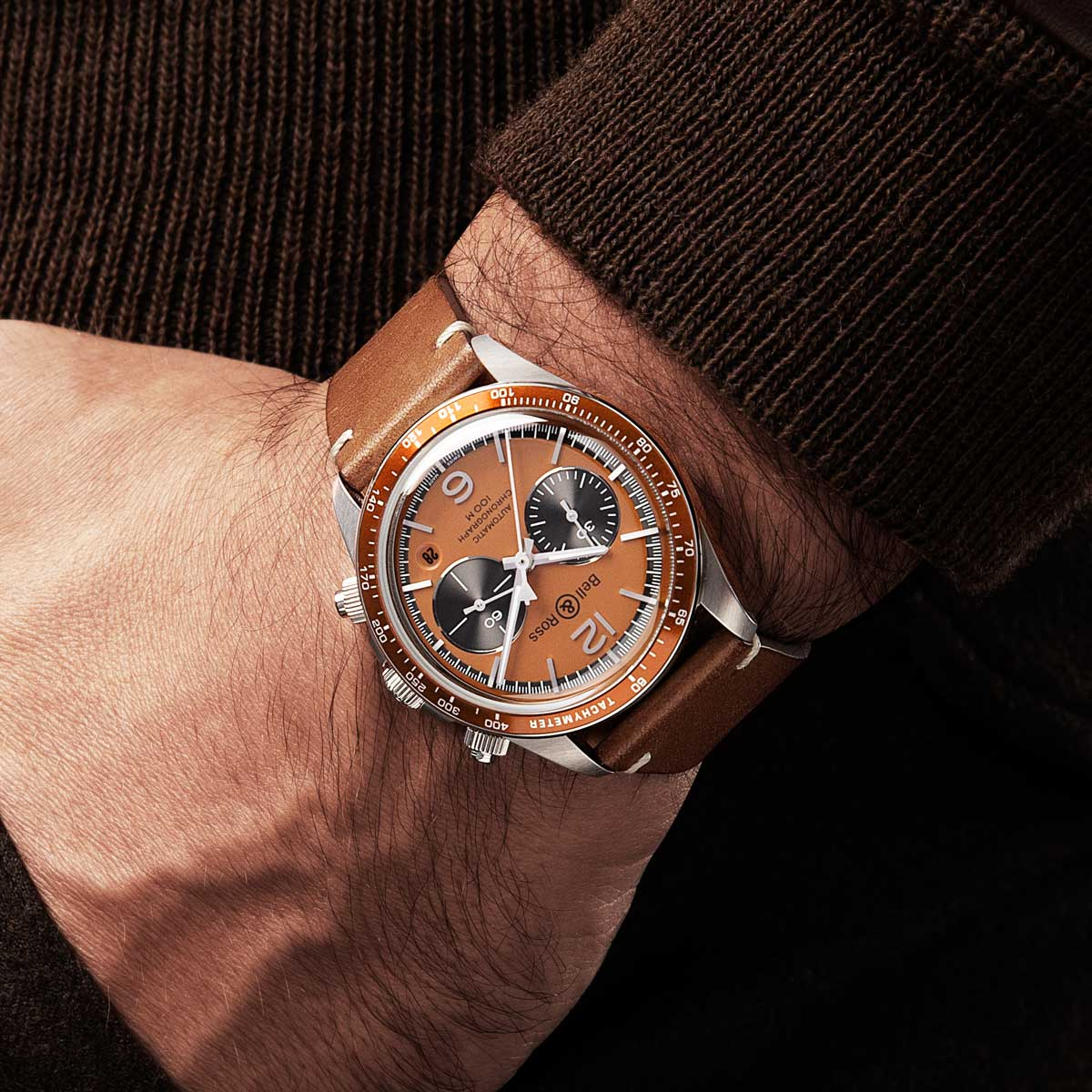"The Bell & Ross x The Rake and Revolution Bellytanker ""Dusty"" Chronograph (© Revolution)"