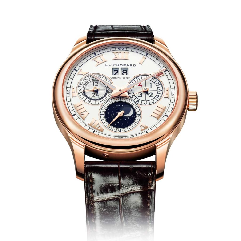 2005 — Chopard unveils the L.U.C Lunar One Perpetual Calendar which features the first orbital moon phase display in a modern wristwatch.