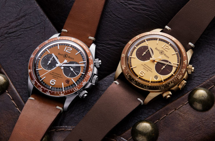 "The Bell &  Ross x  The  Rake  and Revolution Bellytanker  ""Dusty"" and ""El Mirage"" Chronographs (© Revolution)"