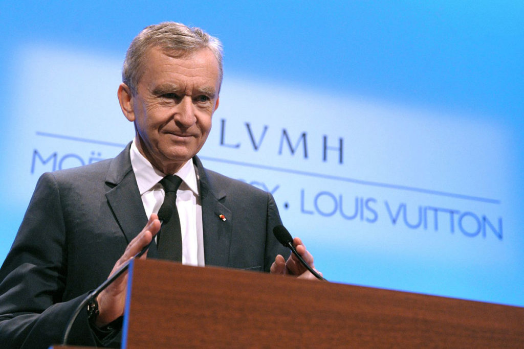 Chief Executive of LVMH, Bernard Arnault (Photo: cnbc.com)