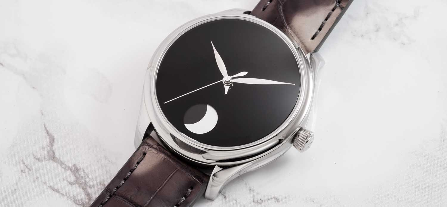 The H. Moser & Cie Endeavour Perpetual Moon Concept with Vantablack® dial, limited to 50 pieces (Image © Revolution)