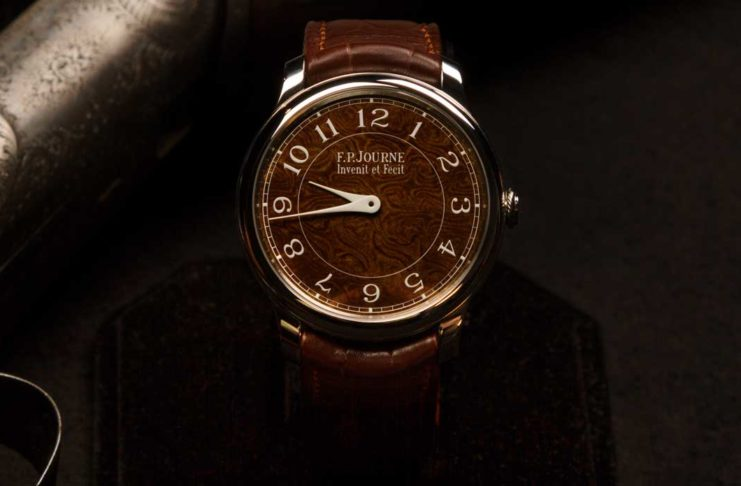 The dial of the The F.P. Journe Chronomètre Holland & Holland