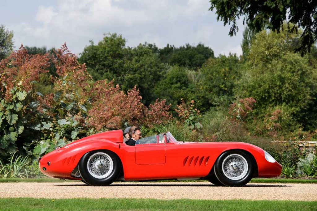 The Maserati 300S driven to victory by Sir Stirling Moss in Sweden during 1955