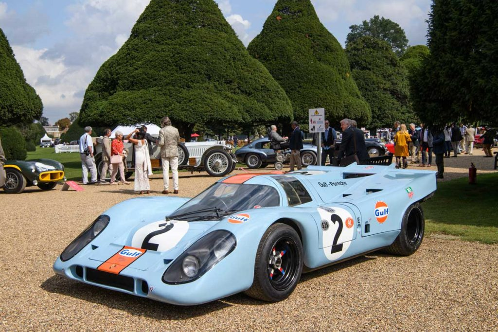 The Porsche 917K driven by Steve McQueen during filming for Le Mans