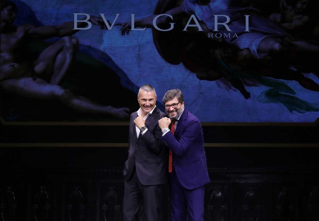 Bulgari CEO Jean-Christophe Babin and Manager Director of Bulgari Watches Guido Terreni