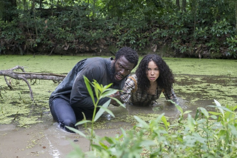 Aldis Hodge and Jurnee Smollet in Underground