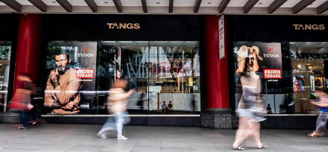 Inside Tudor's First Studio Boutique at the Tang Plaza in Singapore (Image © Revolution)