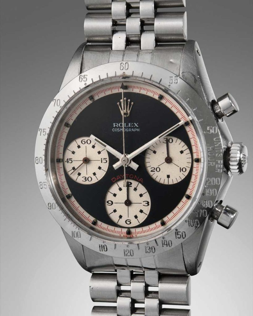 "Lot 13: 1967 Rolex ""Paul Newman"" Daytona ref. 6239 that was awarded to the winner of the Daytona 500, in 1969"