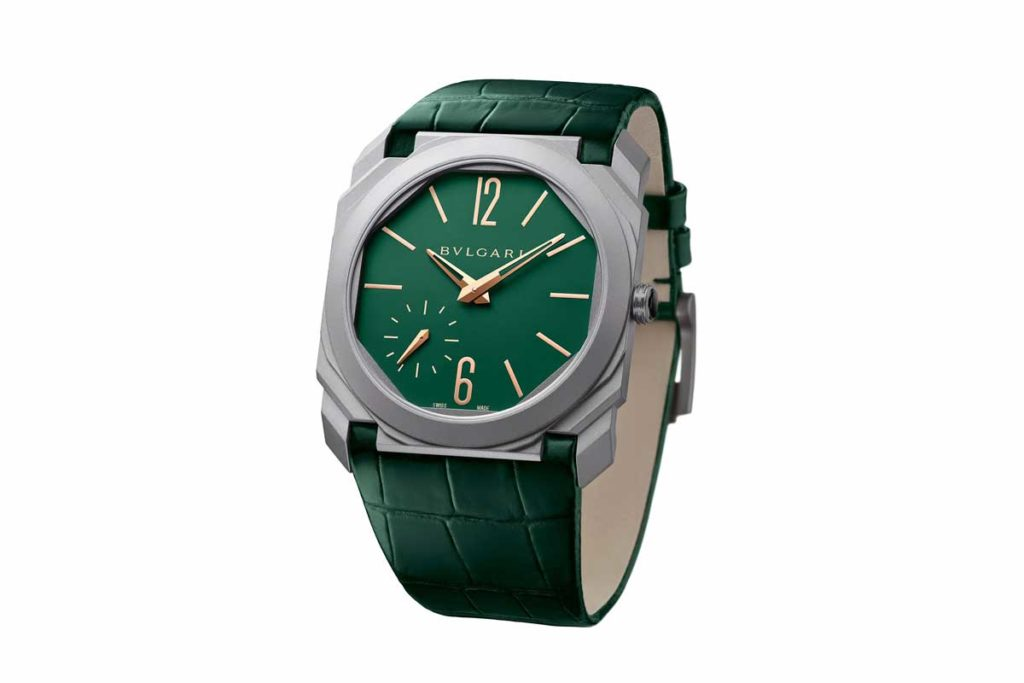 Bulgari's limited-edition Octo for Harrods, with its distinctive green dial