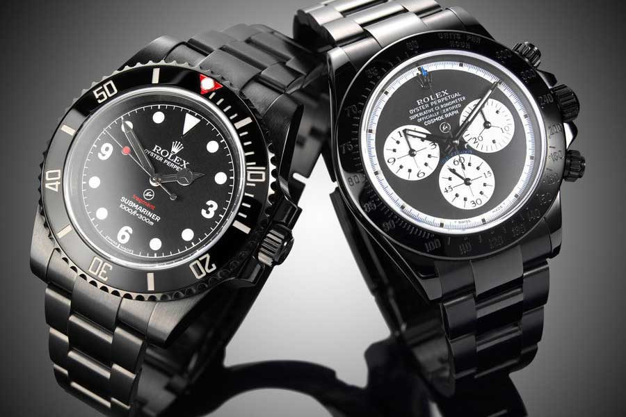 Examples of Rolex from the Bamford and Fragment collaboration