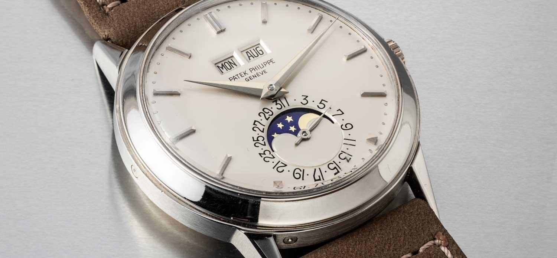 White gold Patek Philippe perpetual calendar ref. 3448