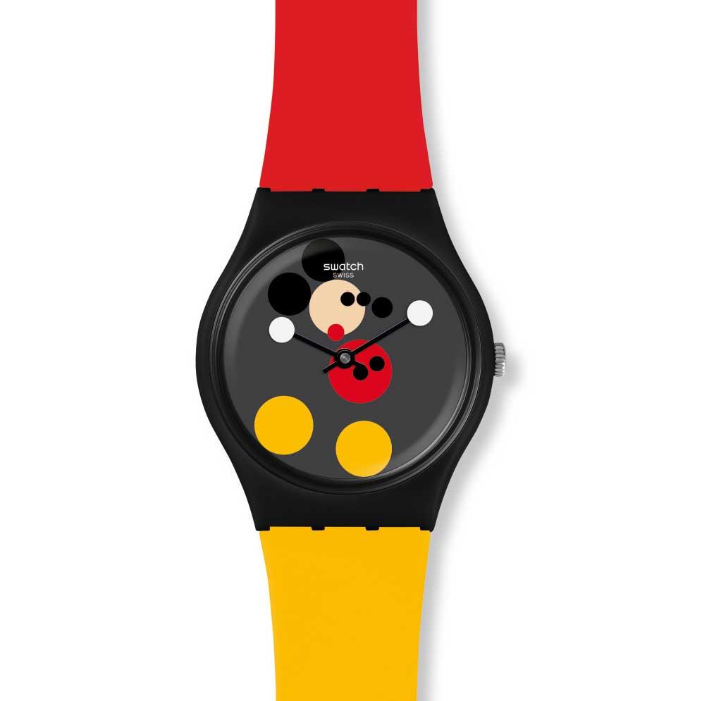 sa01 gz323s Print - Swatch X Keith Haring - Đồng hồ Mickey siêu ấn tượng