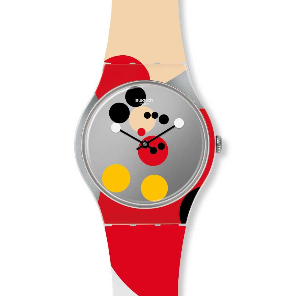 sa01 gz323s Print 01 - Swatch X Keith Haring - Đồng hồ Mickey siêu ấn tượng