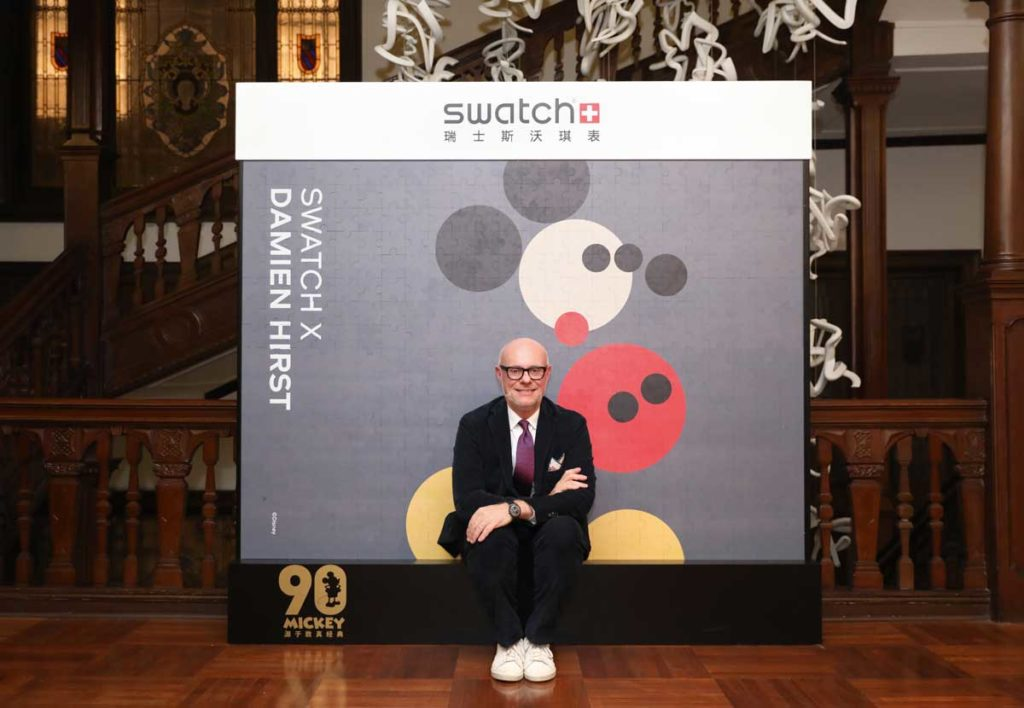 Swatch's Creative Director, Carlo Giordanetti at their special launch event in Shanghai