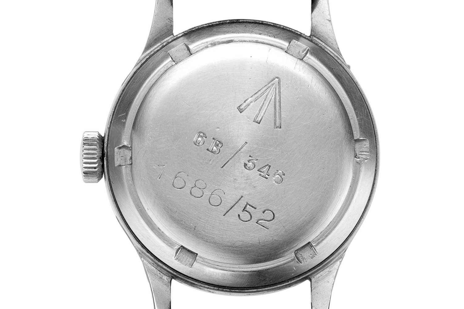 Caseback of a Mark XI with military engravings