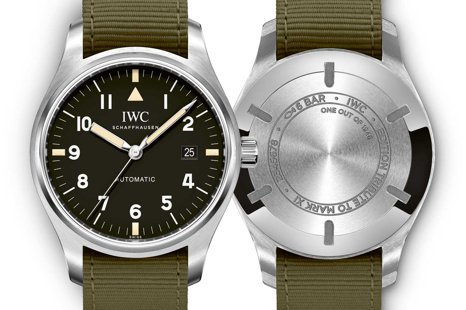 """Pilot's Watch Mark XVIII Edition """"Tribute to Mark 11"""" caseback and dial-side"""