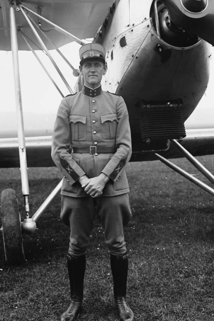 Lieutenant Rudolf Homberger during his service for the Swiss Air Force in the late-1930s