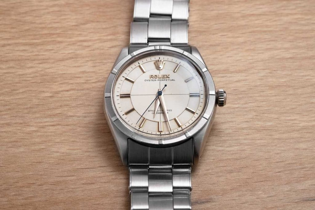 Jack's Japanese issued Rolex ref. 6569 pie pan dial with cross-hair (Image © Revolution)