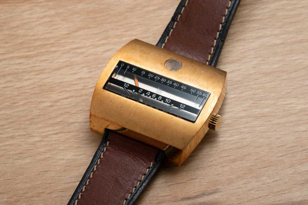 From Jack's collection: a double retrograde linear time display timepiece from Lip (Image © Revolution)