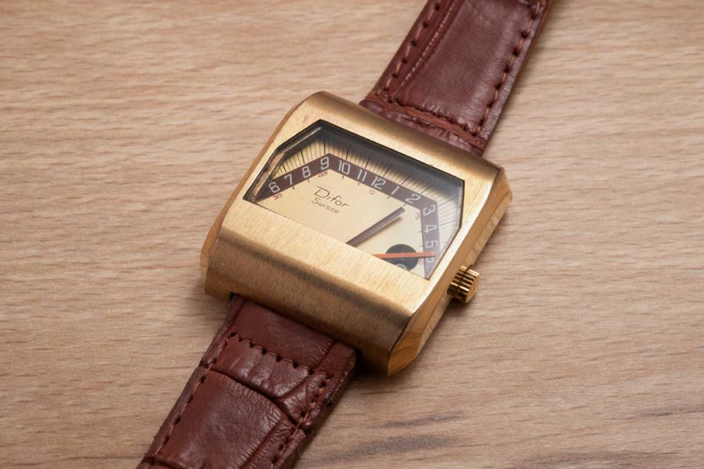From Jack's collection: a double retrograde time display timepiece from Difor (Image © Revolution)