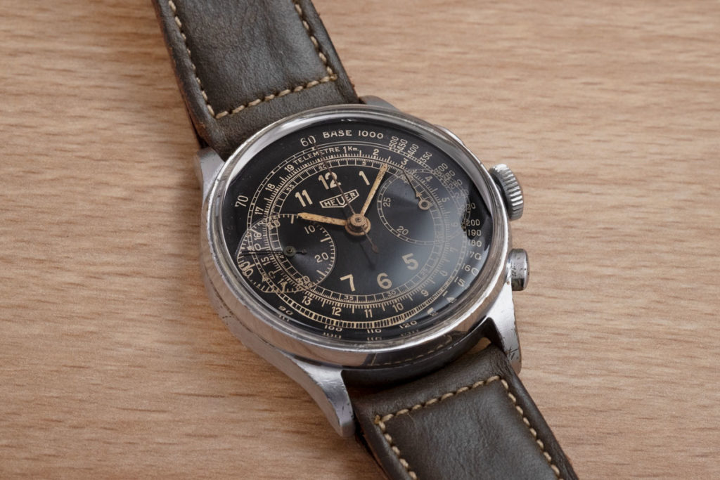 A 1939 Heuer chronograph that Jack bought from an army PX (Image © Revolution)
