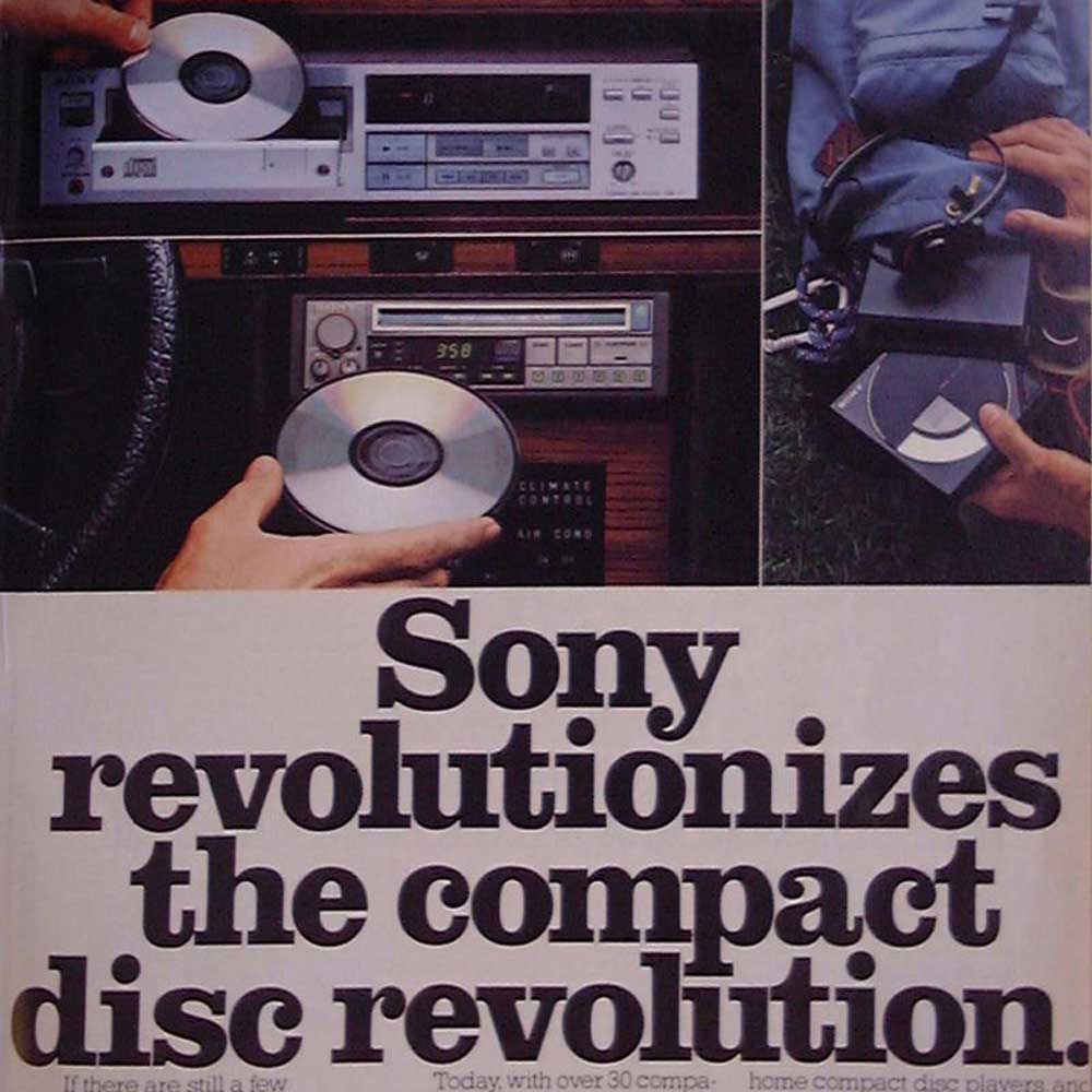 Sony advertisement for CD players, 1984