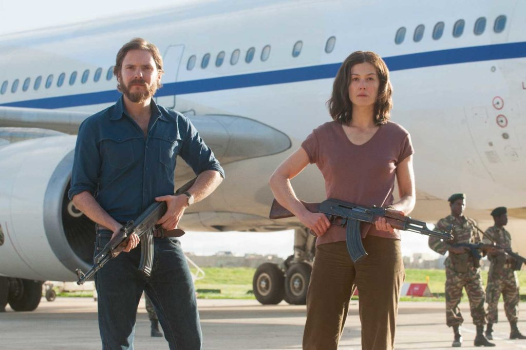 With Daniel Brühl in Entebbe (2018)